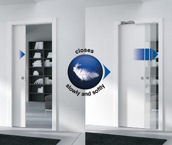 Eclisse Soft Closing Kit - up to 40Kg Wooden Door