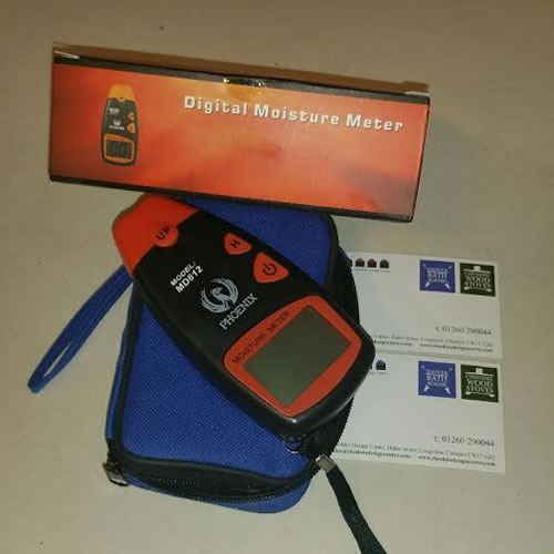 Digital moisture meter designed to detect the level of moisture in wood