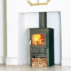 Clearview Pioneer 400P 5kw Wood and Multi-fuel stove