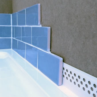 Waterstop seals tiles, shower trays, baths and kitchen work surfaces