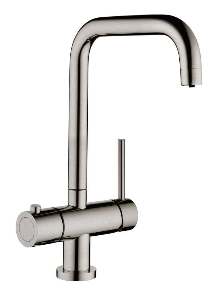 Instant Boiling Water Tap - Brushed Steel
